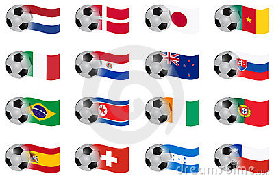 South africa worth cup  vector flags group E to H