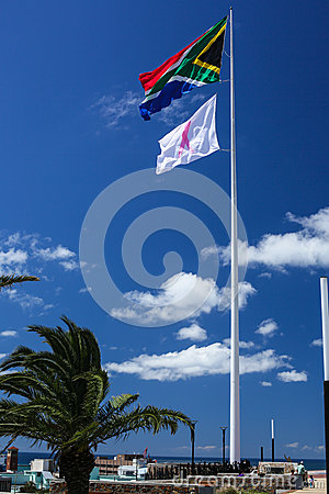 South African Breast Cancer Awareness Flags Stock Photos, Images ...