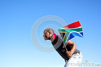 South African flag runner