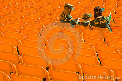 South African Rugby supporters Editorial Stock Image
