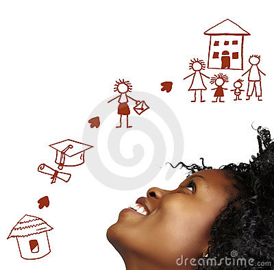 Free South African Woman Dreaming.. Royalty Free Stock Images - 12505629