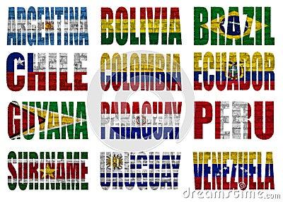 South America länder sjunker uttrycker
