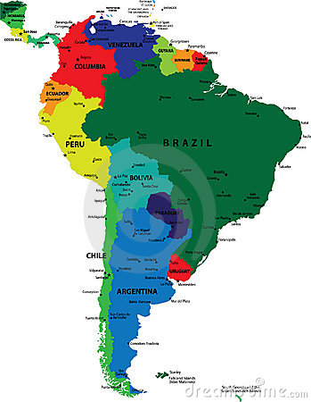 Free South America Political Map Royalty Free Stock Photos - 7226918