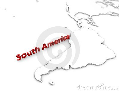 South America region map