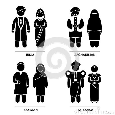 South Asia kläddräkt