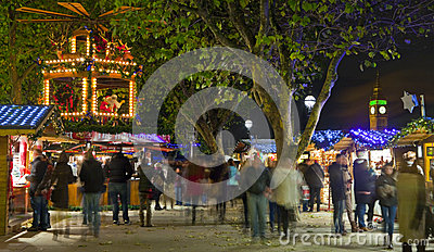 South Bank Christmas Market in London Editorial Stock Photo