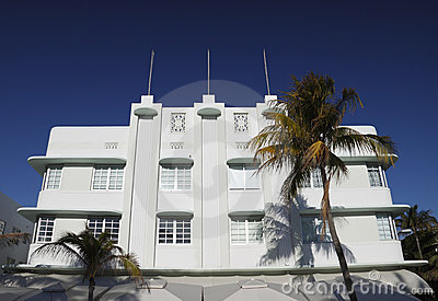 South Beach Art Deco hotel Miami.