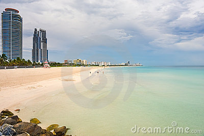 South Beach at cloudy day