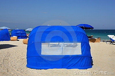 South Beach, Florida beach tent