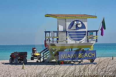 South Beach lifeguard stand Editorial Photo