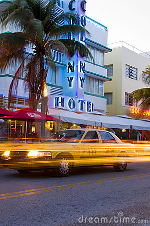 south beach miami art deco hotels Editorial Photography
