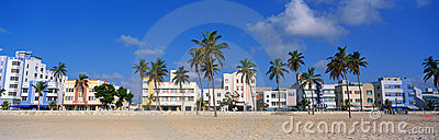South Beach Miami, FL art deco district Editorial Stock Image