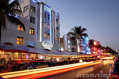South Beach Miami Hotels Editorial Photo