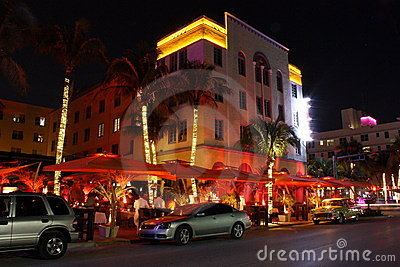 South Beach Miami Hotels Editorial Photo