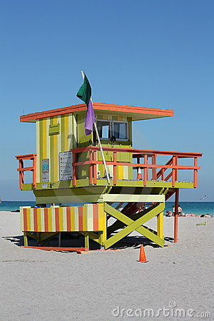 South Beach Miami lifeguard Stand Editorial Image