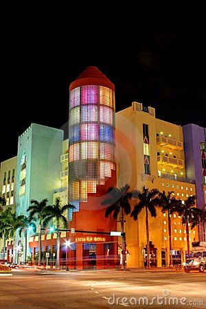 South Beach Miami Stores Editorial Photography