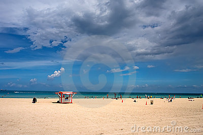 South Beach at summer day, Miami