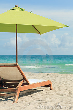 South Beach Umbrella and Lounge Chair
