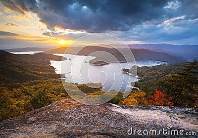South Carolina Fall Foliage Lake Jocassee Scenic