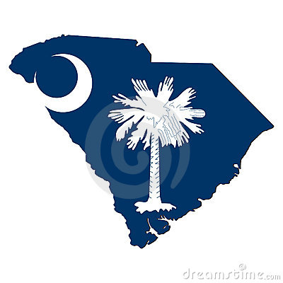 South Carolina Map flag