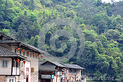 South of China traditional residence in countryside Editorial Photo