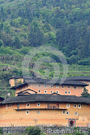 South Chinese traditional residence, Earth Castle among mountains