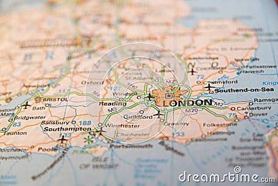 South coast of England map