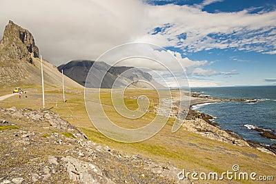 South coast of Iceland. Hvalnes.