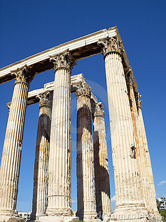 South east view of Olympian Zeus temple, Athens