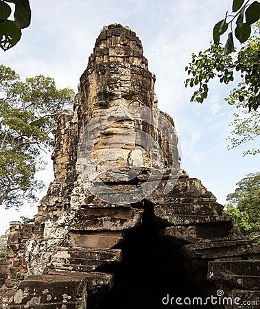 South gate of Angkor Thom Cambodia