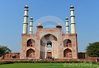 South Gate of the Tomb of Akbar the Great Editorial Photography