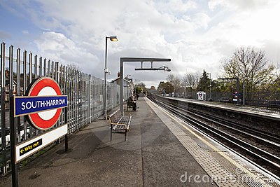 South Harrow Tube Station Editorial Photography