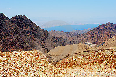 South of Israel, down to the Red Sea