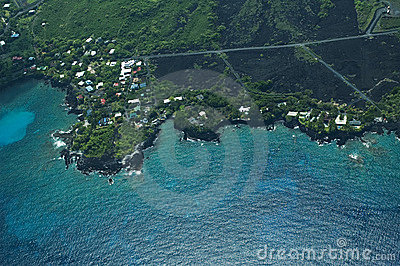 South Kona coast, Big Island aerial shot