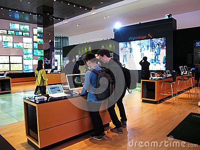 South Korea s Samsung merchandise display Editorial Stock Image