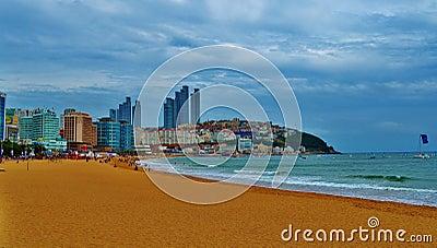 South Korean Beach Editorial Image
