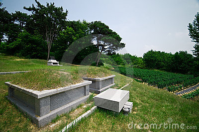 South Korean graves