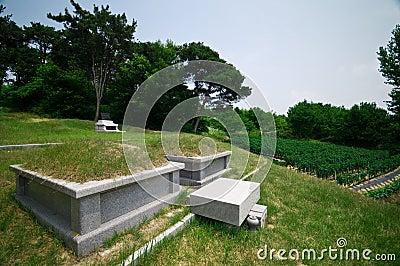 South Korean graves