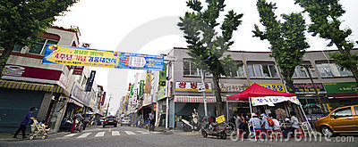 South Korean street Editorial Stock Image