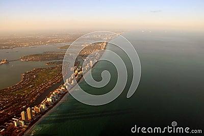 Aerial Miami view
