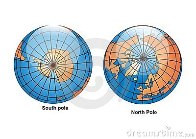 South North Pole Globe vector