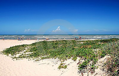 South Padre Island beach scene