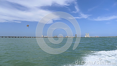 South Padre Island and parasail