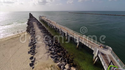 South pointe park fishing pier stock video video 43698799 for Miami fishing piers