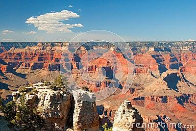 South Rim of Grand Canyon in Arizona panorama