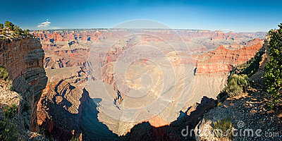 South Rim of Grand Canyon in Arizona panorama