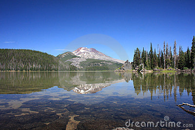 South Sister from Sparks Lake