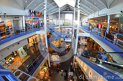 South Street Seaport Mall Shops Editorial Photo