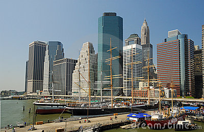 South Street Seaport in New York Editorial Photo