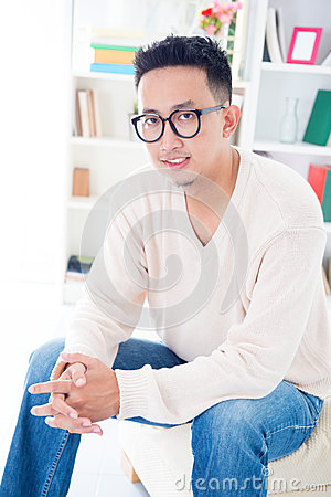 Southeast Asian male with spectacles